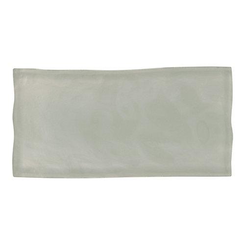 Carreau Artisan, verre, 3x 6po, gris, 8,23pi2/boîte