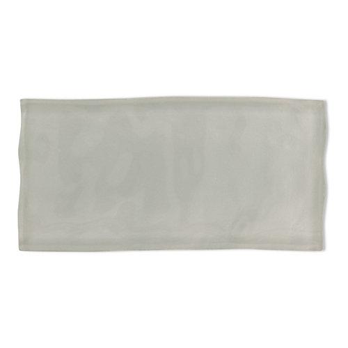 Carreau Artisan, verre, 3x 6po, gris pâle, 8,23pi2/boîte