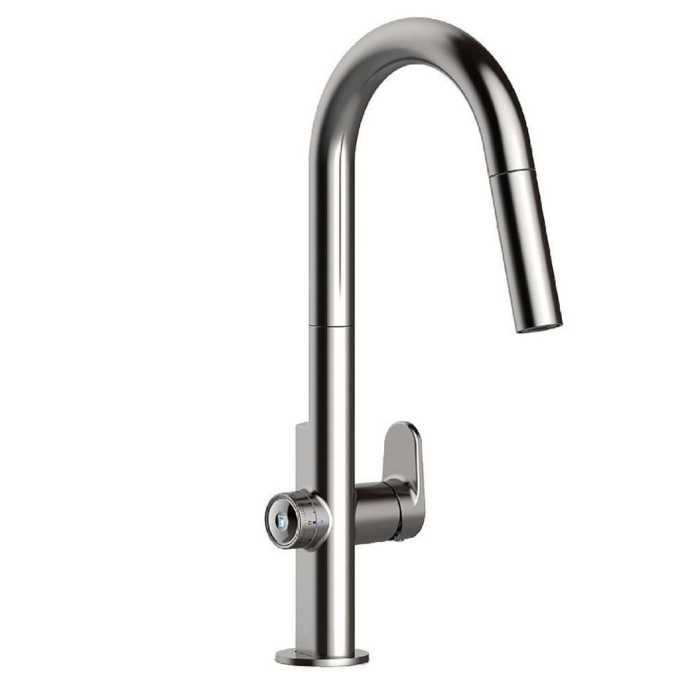 American Standard Beale Measurefill Touch Single Handle Pull Down Sprayer Kitchen Faucet I The Home Depot Canada