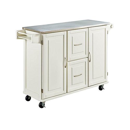 Patriot White Kitchen Cart