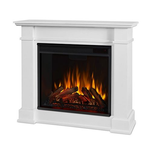 Devin 36-inch Electric Fireplace in White