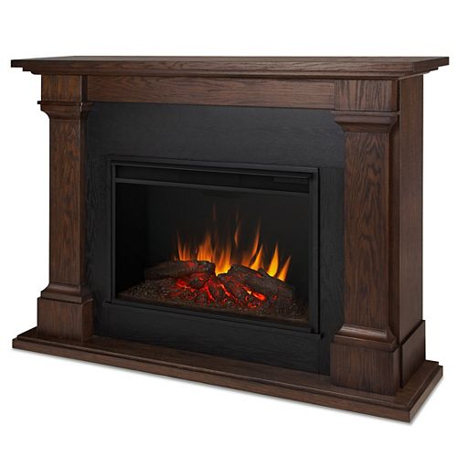 Real Flame Callaway 63-inch Grand Electric Fireplace in Chestnut Oak