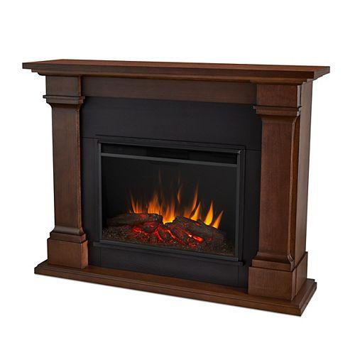 Callaway 63-inch Grand Electric Fireplace in Chestnut Oak