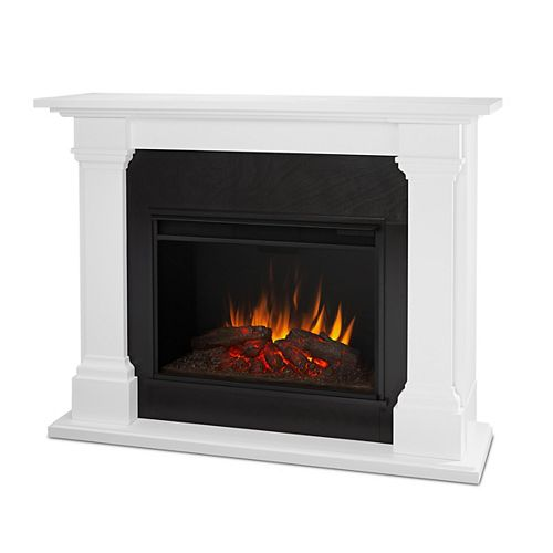 Callaway Grand 63-inch Electric Fireplace in White