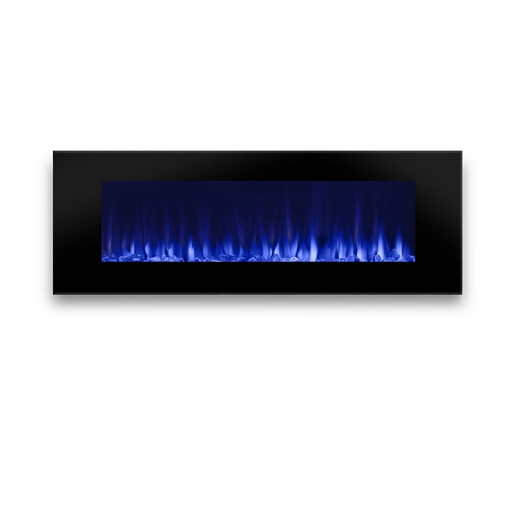 Real Flame DiNatale 50-inch Wall-Mount Electric Fireplace in Black