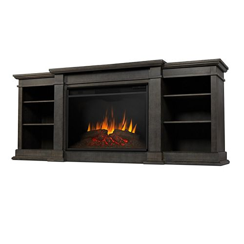 Eliott Grand 81-inch Electric Fireplace TV Stand Entertainment Center in Vintage Black Maple