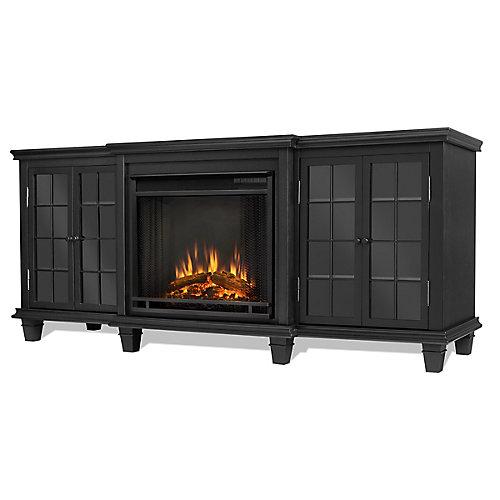 Foyer électrique Marlowe, couleur noire