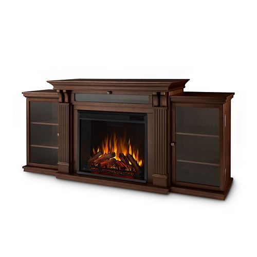 Calie Entertainment 67-inch Media Console Electric Fireplace TV Stand in Dark Espresso