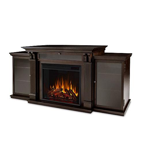 Calie Entertainment Electric Fireplace in Dark Walnut