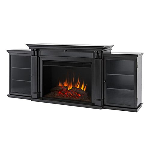 Tracey Grand 84-inch Electric Fireplace TV Stand Entertainment Center in Black