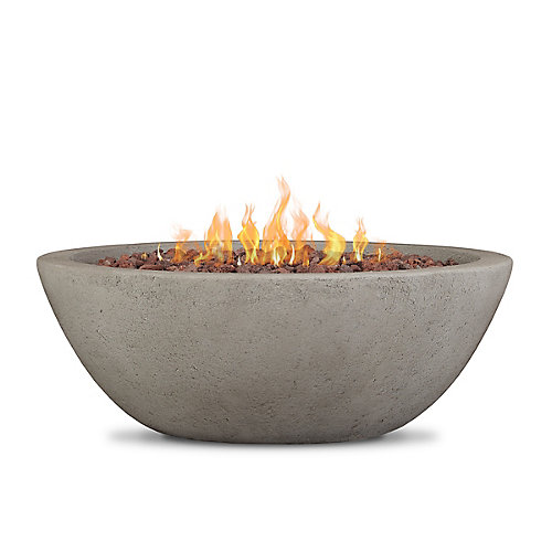 Riverside Propane Fire Bowl with Natural Gas Conversion Kit in Glacier Grey