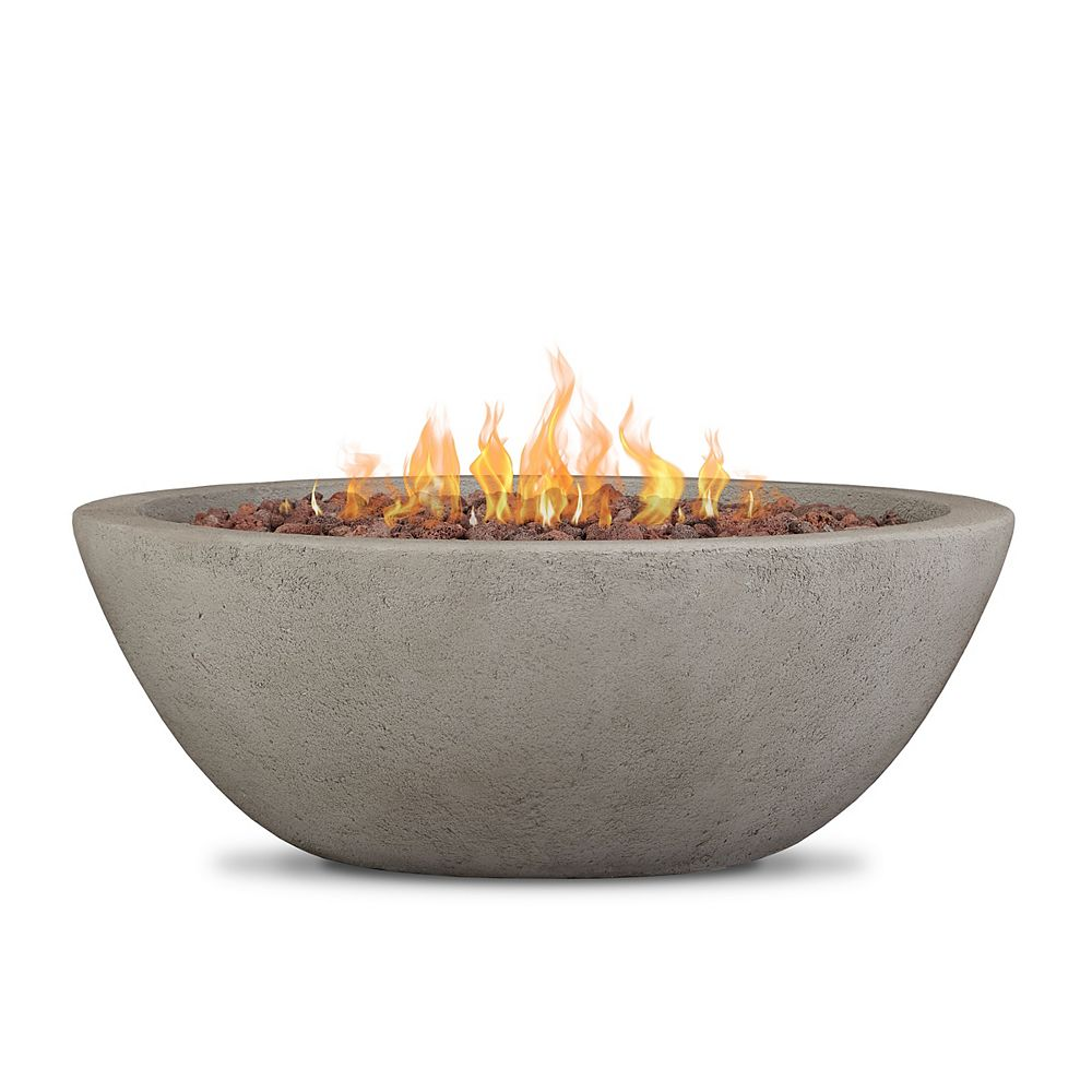 Real Flame Riverside Propane Fire Bowl With Natural Gas Conversion Kit In Glacier Grey The Home Depot Canada