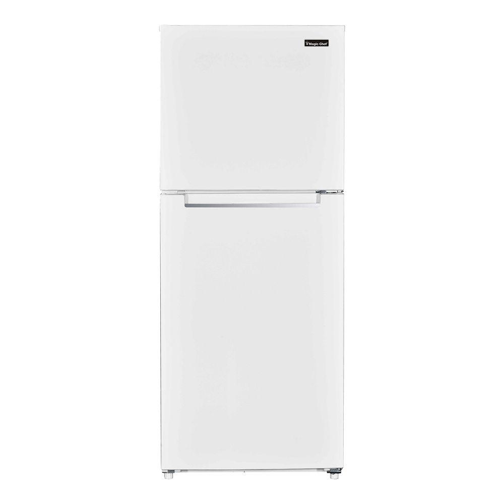 Magic Chef 10.1 cu. ft. Top Mount Refrigerator in White Finish