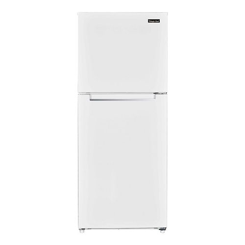 10.1 cu. ft. Top Mount Refrigerator in White Finish