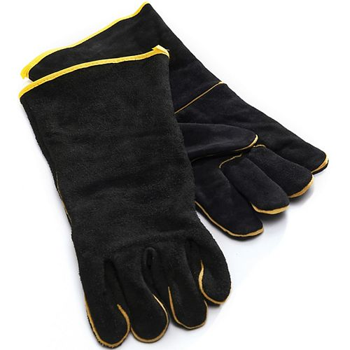 Leather Grilling Gloves in Black
