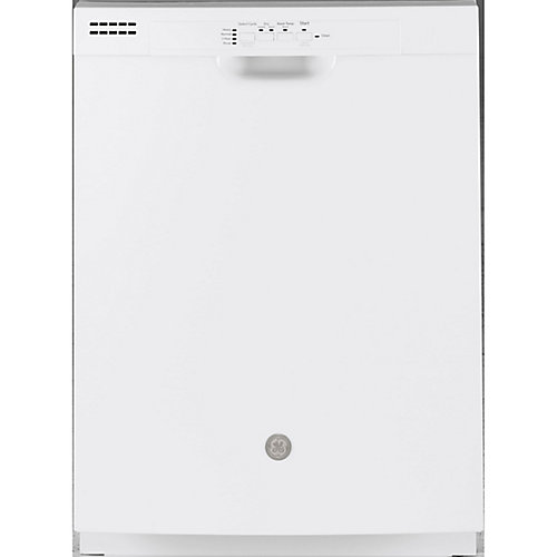 24-inch Front Control Tall Tub Built-In Dishwasher in White