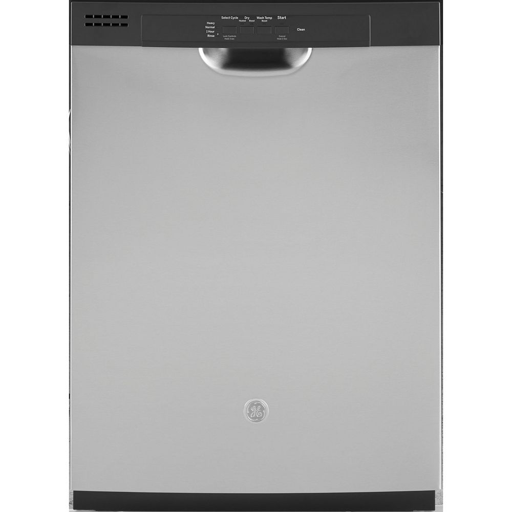 GE 24-inch Front Control Tall Tub Built-in Dishwasher in Stainless steel