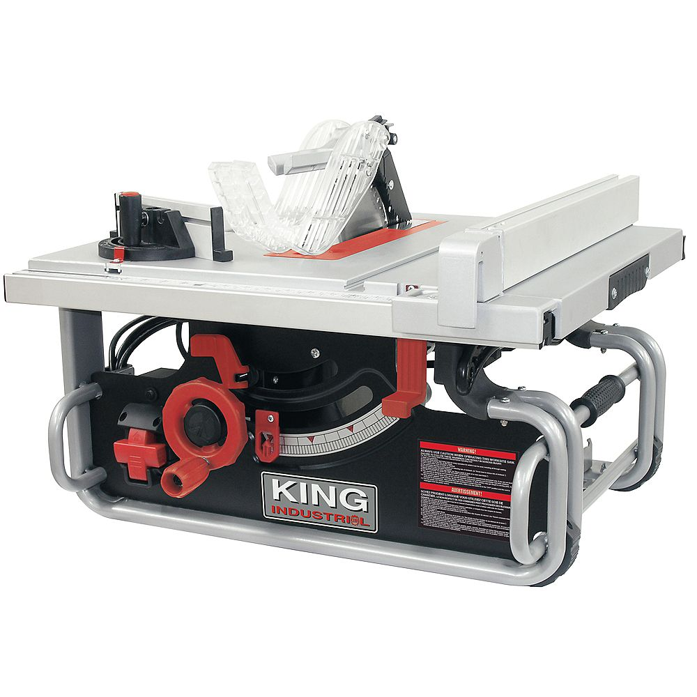 King Industrial 10 inch Portable Jobsite Table Saw