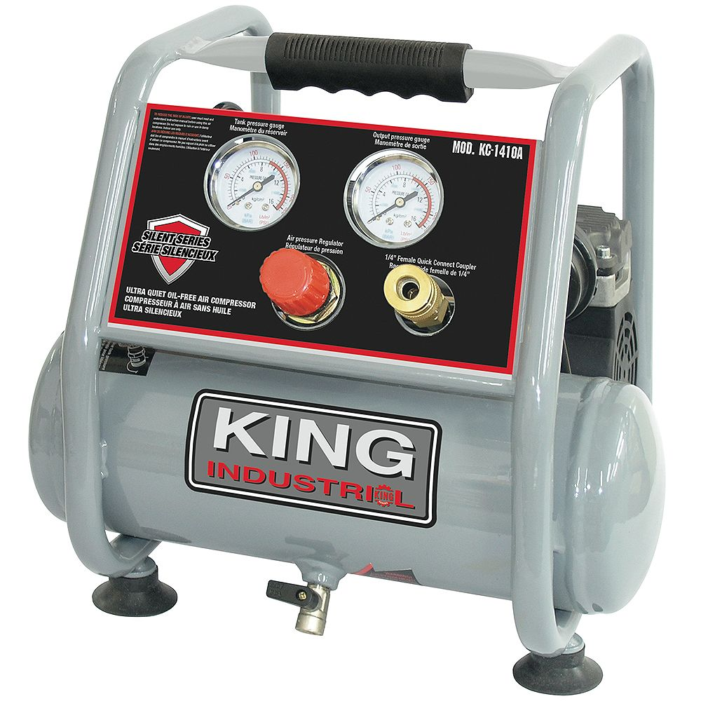 Performance Plus Ultra Quiet Oil Free Air Compressor The Home Depot Canada