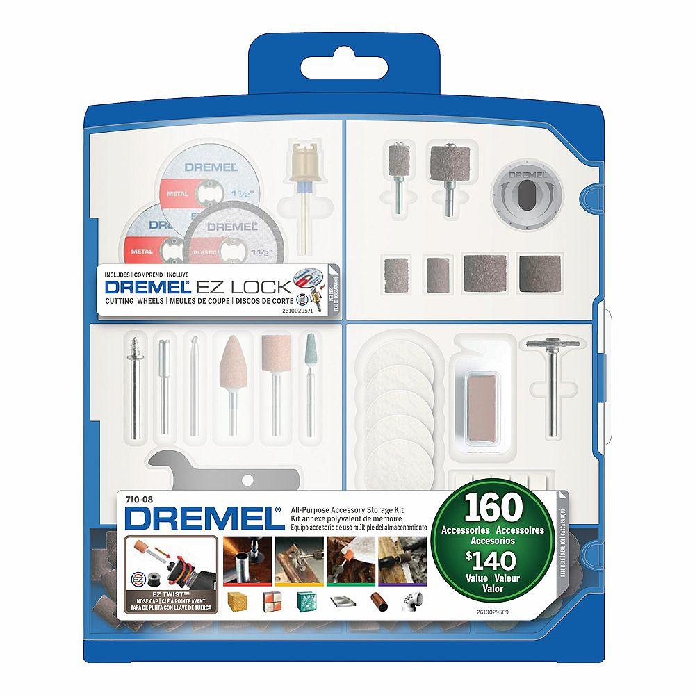 Dremel 710-08 Ensemble d'accessoires tout usage 160 pièces