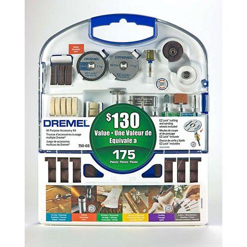 710-03 Kit d'accessoires rotatifs 175 pièces