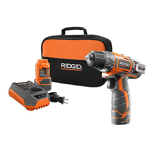 12-Volt Lithium-Ion 3/8-Inch 2-Speed Cordless Drill Kit with (2) 1.5Ah batteries