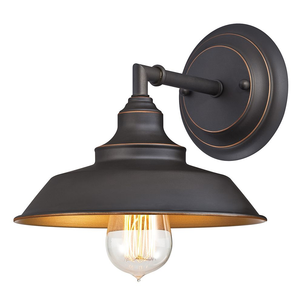 Westinghouse Iron Hill One-Light Indoor Wall Light Fixture