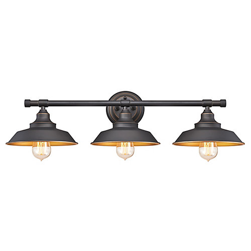 Iron Hill 3-Light Indoor Wall Light Fixture