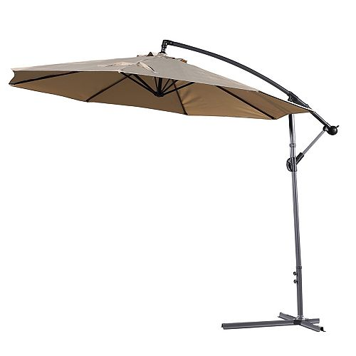 10 ft. Gandia Patio Cantilever Umbrella in Mocha