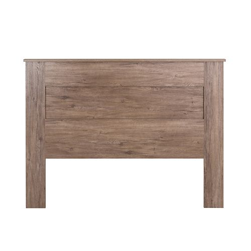 Queen Flat Panel Headboard-Drifted Gray