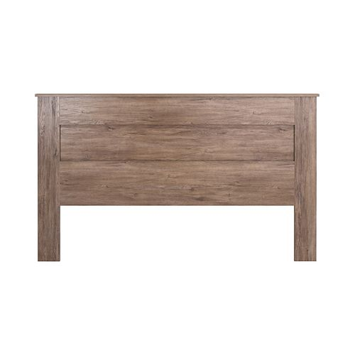 King Flat Panel Headboard-Drifted Gray