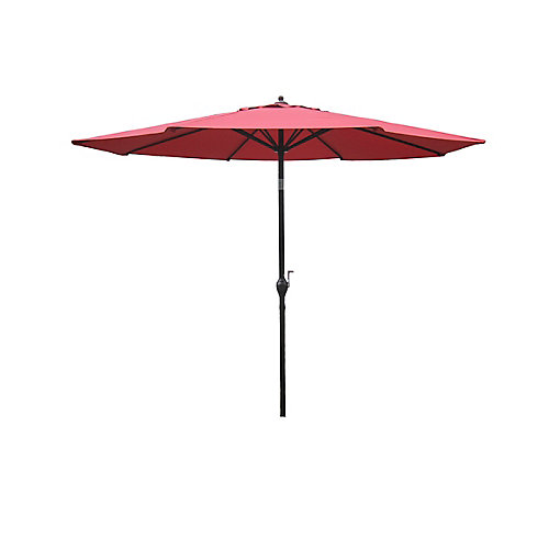 Parasol de marché en aluminium de 9pi, couleur corail