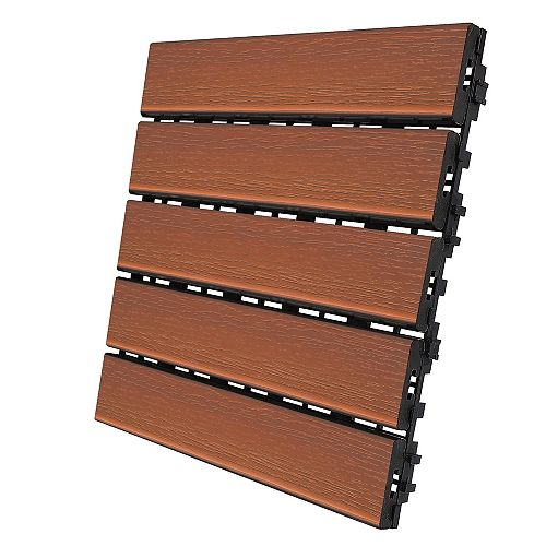 12 inch x 12 inch Deck and Balcony Tile - Copper - 2 Sq. ft. - 2 Pc/Pk