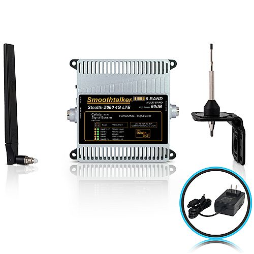 Stealth Z6 60dB 6-Band 3G 4G LTE High Power Building Booster Kit With Omni Directional Antennas