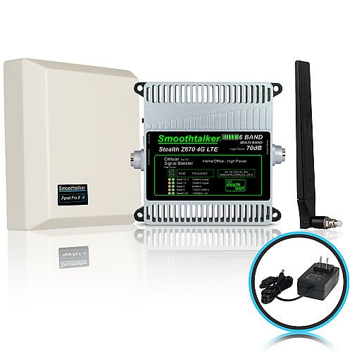 Stealth Z6 70dB 6-Band 3G 4G LTE High Power Building Booster Kit With Omni Directional Antennas