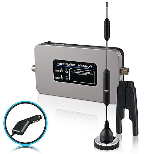Mobile X1 50dB 2-Band 3G 4G LTE Extreme Power Wireless Booster With 14 inch Small Mag Antenna and CLA Pwr