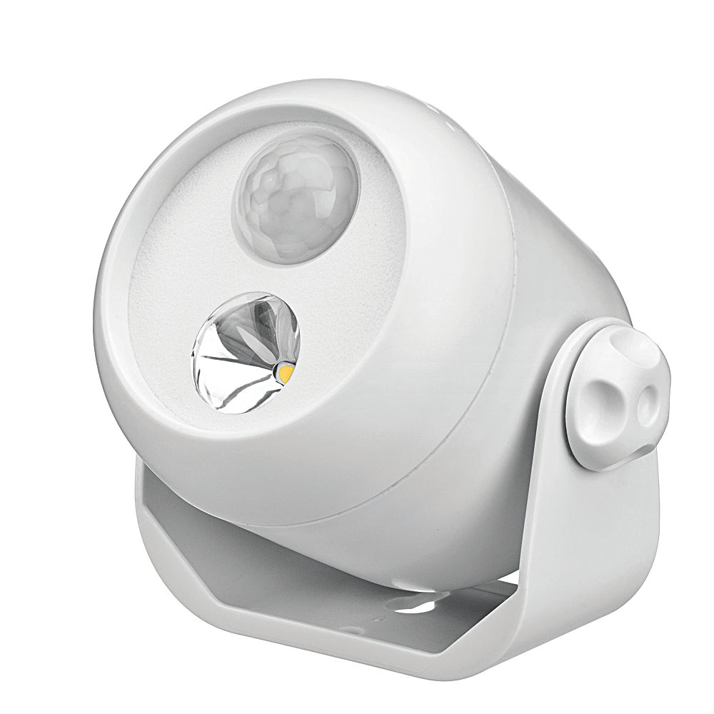 Mr. Beams Wireless Motion Sensor LED Spotlight - White - 80 lumens - Multi-Purpose