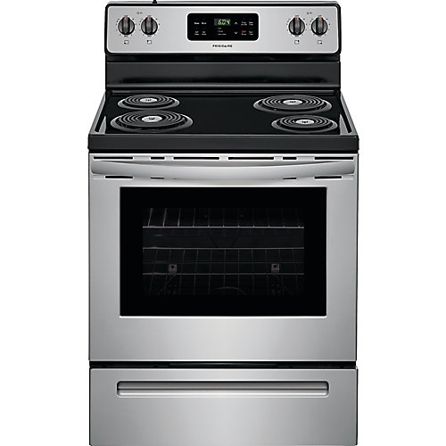 30-inch 5.3 cu. ft. Freestanding Electric Range with Self-Cleaning Oven in Stainless Steel