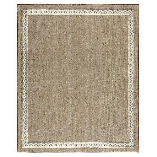 Sparrow Hazel Nut/Bone White 8 ft. x 10 ft. Indoor Area Rug
