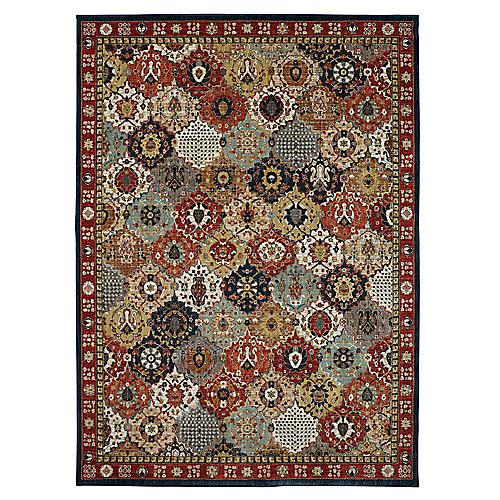Ledford Multi-Colour 9 ft. 6-inch x 12 ft. 11-inch Indoor Area Rug