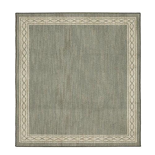 Sparrow Elephant Gray/ Bone White 8 ft. x 8 ft. Indoor Square Area Rug