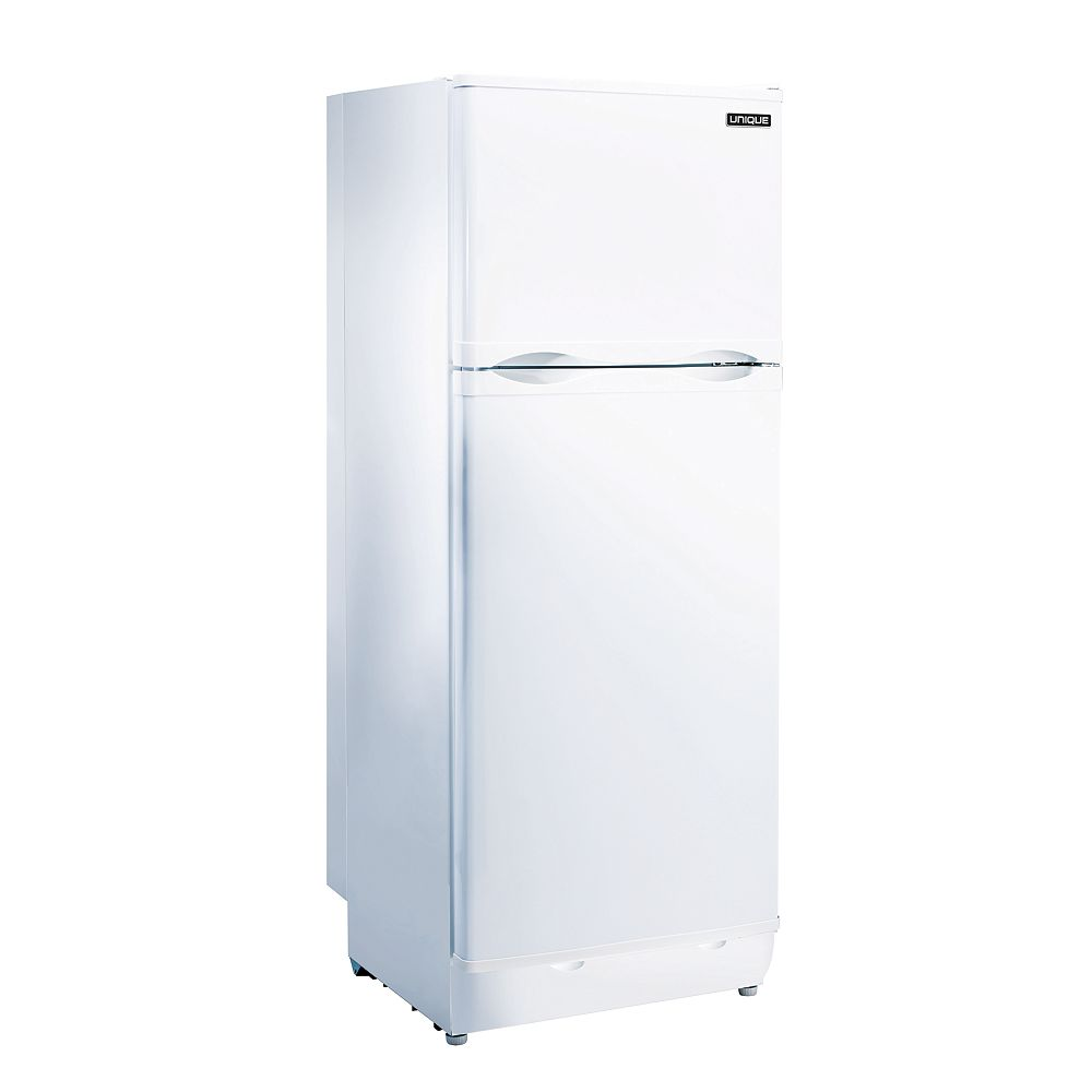 Unique 9.7 cu. ft. Propane Top Freezer Refrigerator with Direct Vent in White