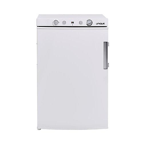 3.4 cu. ft. 3-Way LPG/110V/12V Portable Propane Mini Refrigerator Top Mounted Controls in White