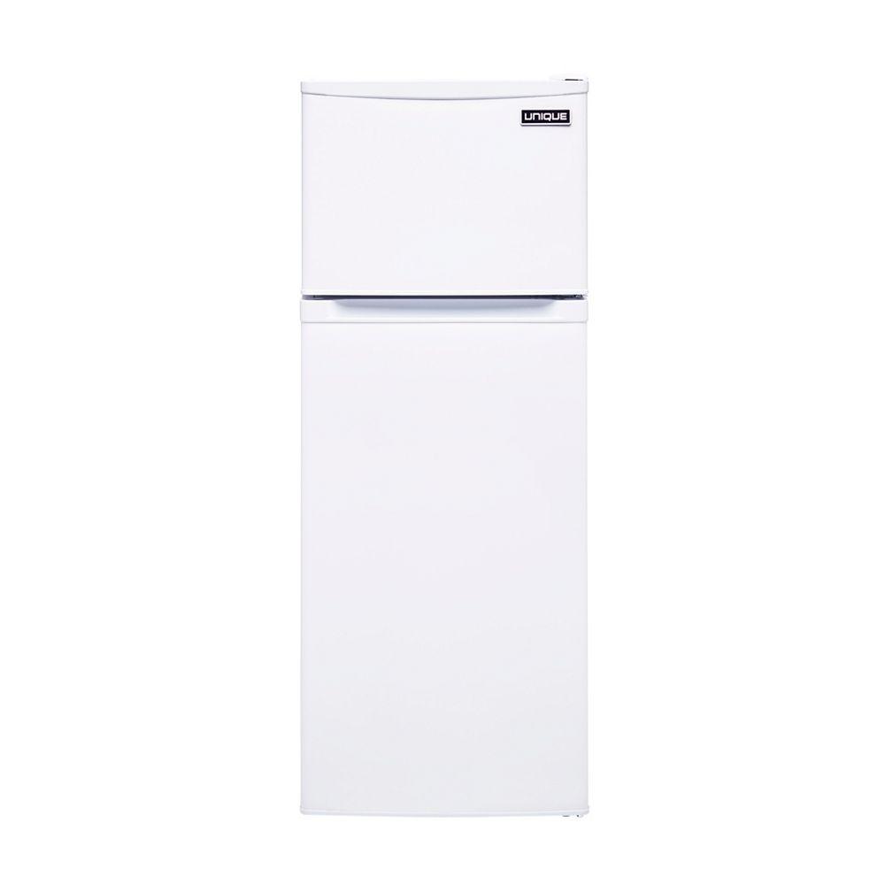 Unique 6.0 cu. ft. 170L Solar DC Top Freezer Refrigerator Danfoss/Secop Compressor in White
