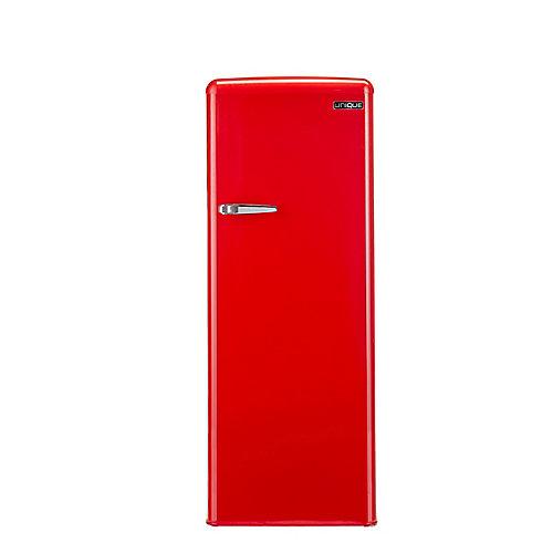 6.1 pi. Cu. 175L Solaire congélateur rétro verticaux compresseur Danfoss/Secop Rouge