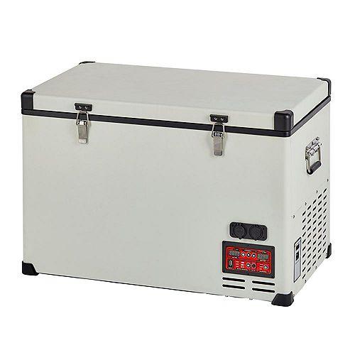 2.3 cu. ft. 65L Solar 12V/24V DC or 110V AC Portable Refrigerator-Freezer in White