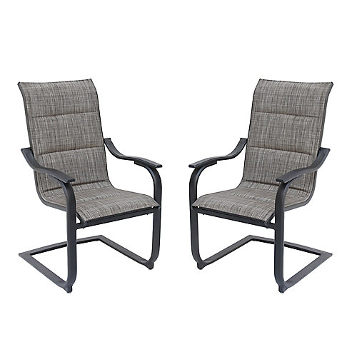 St. Lucia Padded Motion Patio Sling Chair (Set of 2)