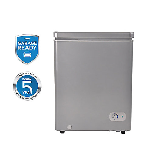 3.8 cu. ft. Chest Freezer in Silver