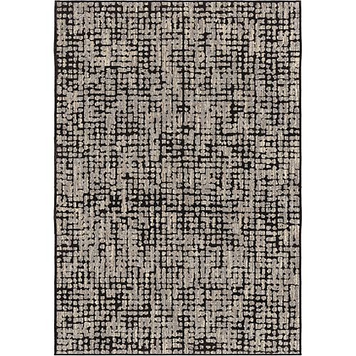 Orian Rugs Rouleau de tapis Ditto noir- 2pi 3 po par longueur personnalisée