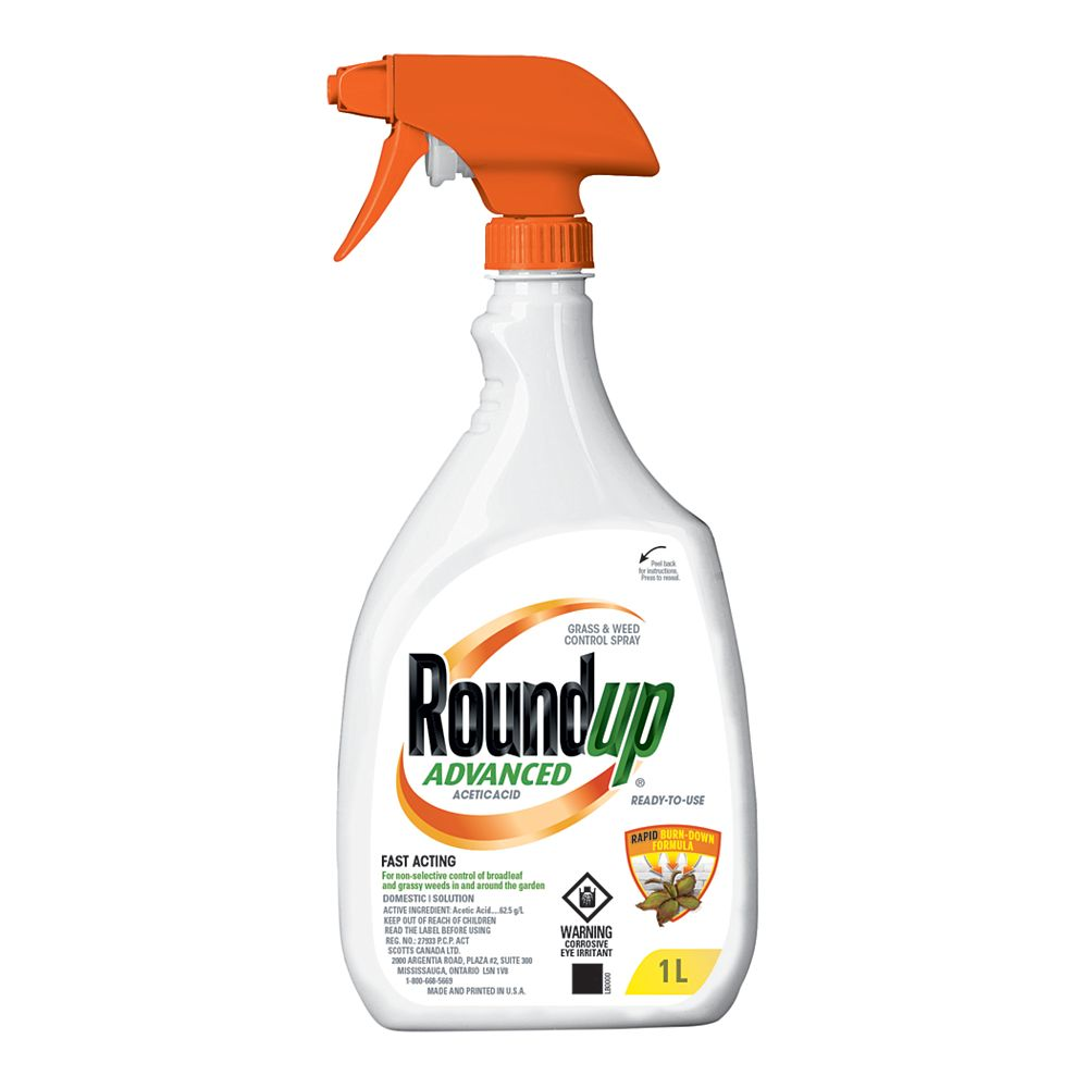 Roundup Ready-To-Use 1L Advanced Grass and Weed Control Spray